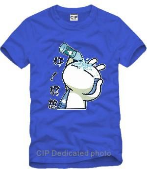 Hot Funny Creative Summer Influx Printed Mens Men T Shirt Tshirt Fashion 2015 New Short Sleeve O Neck Cotton T-shirt Tee(China (Mainland))