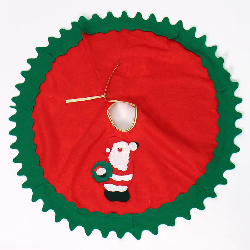 Christmas Tree Ornaments 80cm Cloth New Year Santa Artesanato Christmas trees Skirt Adornos Navidad 2016 Decoration Noel(China (Mainland))