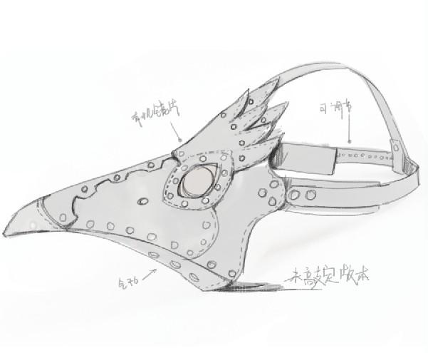 Выкройка маски чумного доктора