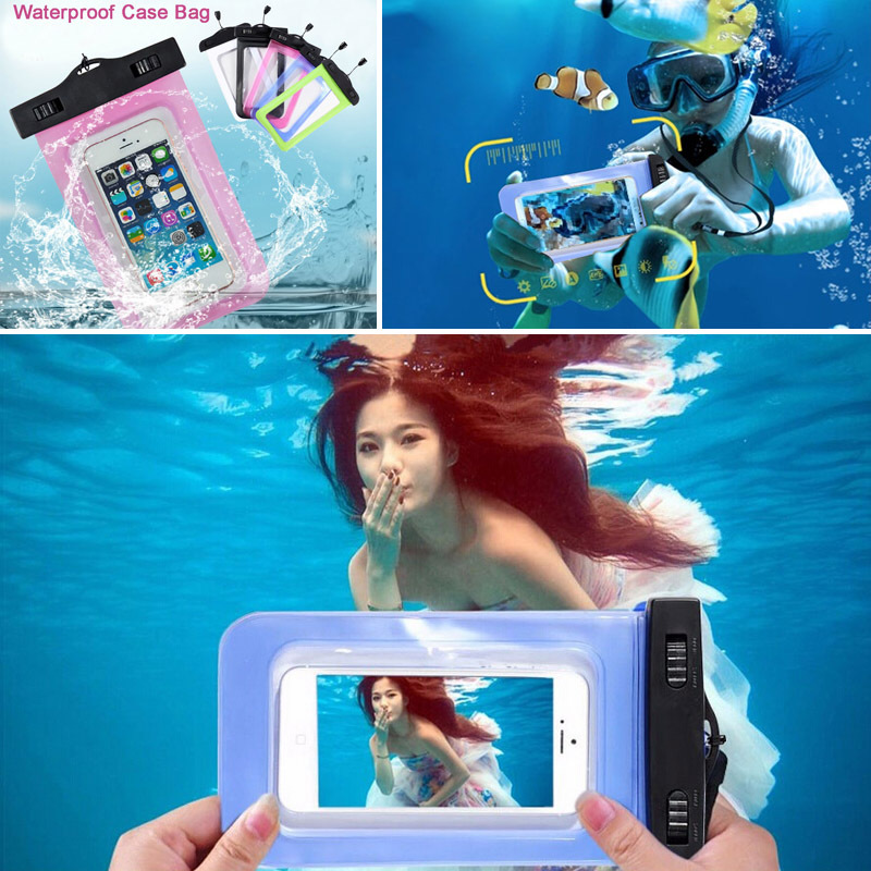 Sealed Waterproof Bag Pouch Cases For iPhone 4 5 6 6S SE For Samsung S4 S5 Swimming Essential In Common Use(China (Mainland))