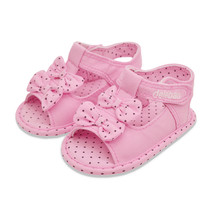The New 2016 Fashion Baby Sandals Handmade High Quality For 0-2 Year Old Rubber Soft Bottom Bowknot Baby Girl Comfortable Sandal(China (Mainland))