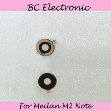 Phone Parts For Meizu M2 Note Rear Back Camera Glass Lens Mobile For Meilan M2 Note Free Shipping;5PCS/LOT