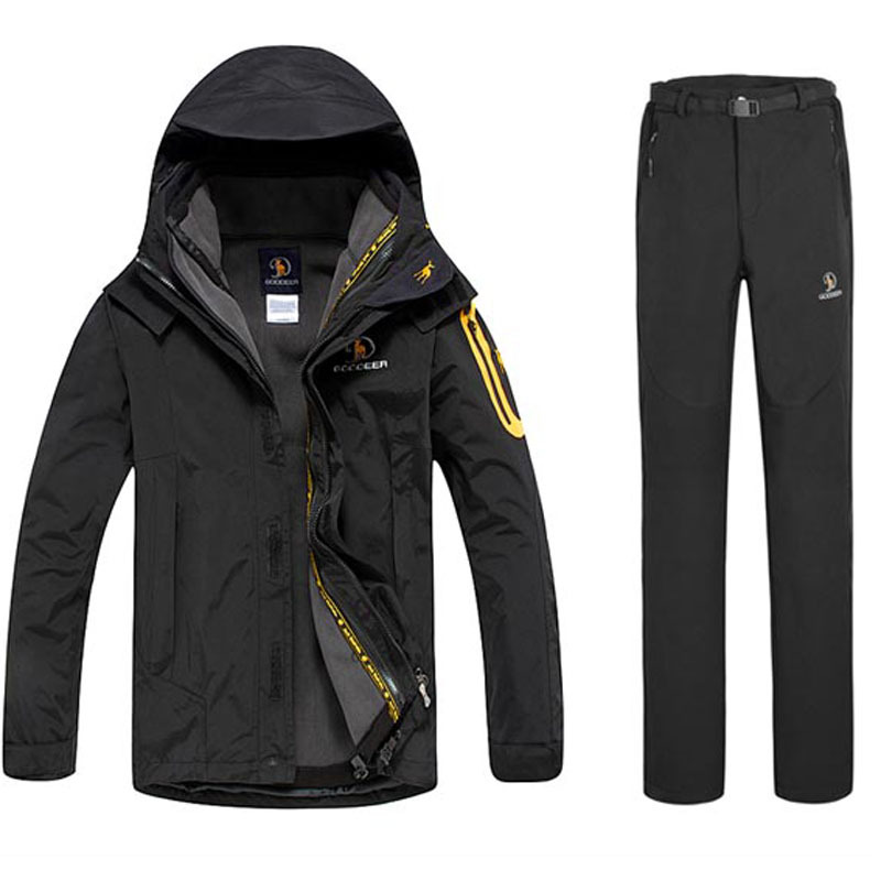 Dropshipping 2015 Brand Winter New Fashion Men's Sports Coats hiking Ski Suit Jackets Waterproof jacket and pants outdoor suit(China (Mainland))