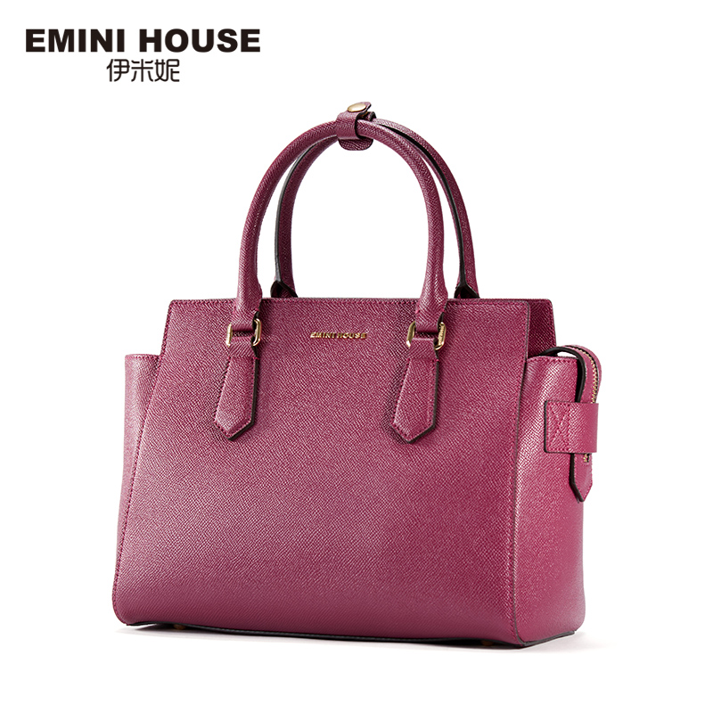 EMINI HOUSE 2 Colors Fashion Split Leather Trapeze Bag Women Messenger Bags Women Handbag Shoulder Crossbody Bags For Women(China (Mainland))
