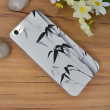 case iphone 6 4.7 inch PC Material ultra thin transparent waterproof ink landscape elegant mobile phone cases i6 tower - kingdy store