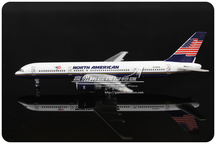 9.5cm 1:500 Air North American Airlines Plane Model Boeing B757 200 N752NA Airplane Model Toy Souvenir Collections Free Shipping(China (Mainland))