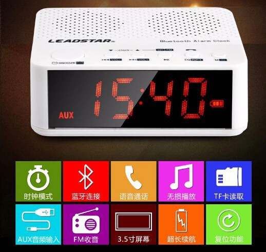 Wireless Bluetooth Mini speaker with screen card computer player cell phone alarm clock radio speakers(China (Mainland))