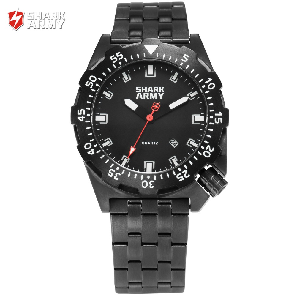 Гаджет  Shark Army 100m Water Resistant Swimming Watches Men Luminous Auto Date Relojes Clock Quartz Sport Military Wrist Watch / SAW190 None Часы
