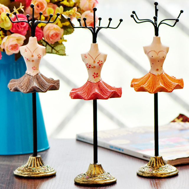 free shipping Elegant gorgeous dress skirt jewelry display stand holder fashion princess iron rack accessories home decoration