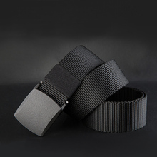 New 2016 Belts Men High Quality Canvas Belt Casual belts fast dry Plastic Automatic Buckle 110-140cm(China (Mainland))