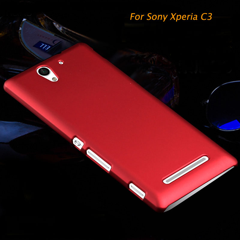 For Sony Xperia C3 Dual S55U D2533 D2502 S55T Fundas Capa Protective Shell C3 Case Luxury Slim Thin Frosted Matte Hard PC Cover(China (Mainland))