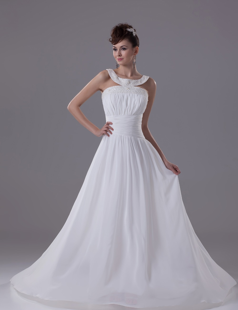 wedding dresses 2016 vintage weeding gown a line sleeveless flowy