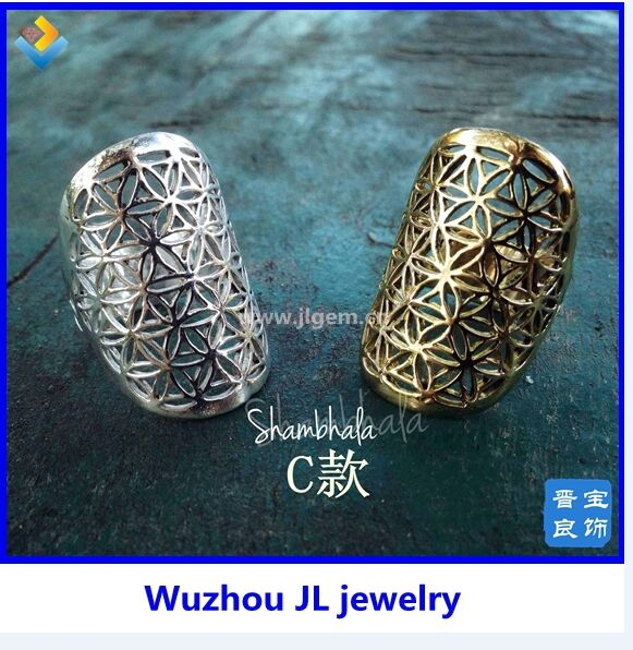 Alibaba express website new flower of life ring for women free shipping!(China (Mainland))