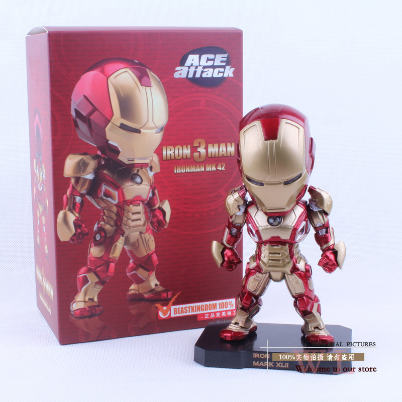 """Super Hero The Avenger Iron Man 3 ACE Attack Iron Man Mark VII MK 42 PVC Action Figure Collection Model Toy 6"""" 14cm HRFG160(China (Mainland))"""
