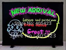 Free shipping!39*55cm,transparent LED writing board,flash led board,fluorescent board with aluminum alloy frame, ,with CE&ROHS(China (Mainland))