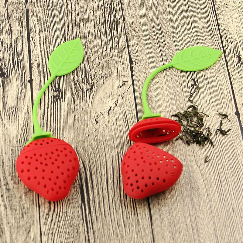 1pcs/lot Silicone Strawberry Design Loose Tea Leaf Strainer Herbal Spice Infuser Filter Tools  1pcs/lot Silicone Strawberry Design Loose Tea Leaf Strainer Herbal Spice Infuser Filter Tools