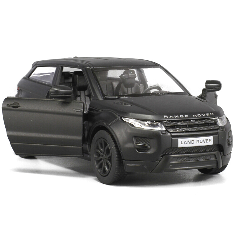 RMZ City 1/36 Scale Black Matte 5 Inch rover Range Evoque Die Cast Car Model Children Gift(China (Mainland))