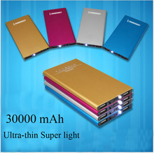30000 mAh Portable Charger Power bank Battery External Battery Backup for iPhone Sumsung Mobile Universal rose red super light