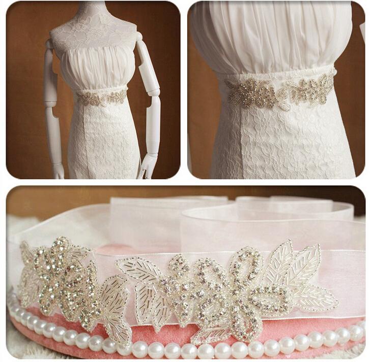 High quality New clear crystal bridal belt magnificent rhinestone belt for bride wedding dress belt accessories(China (Mainland))