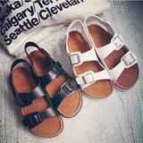 Summer open toe female cork sandals plus size big 36~ 43 women's shoes slippers woman flats womens - White Shoes Boutique store