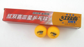 Special offer free shipping Double Happiness Table Tennis 3 Stars / yellow and six three-star table tennis equipment