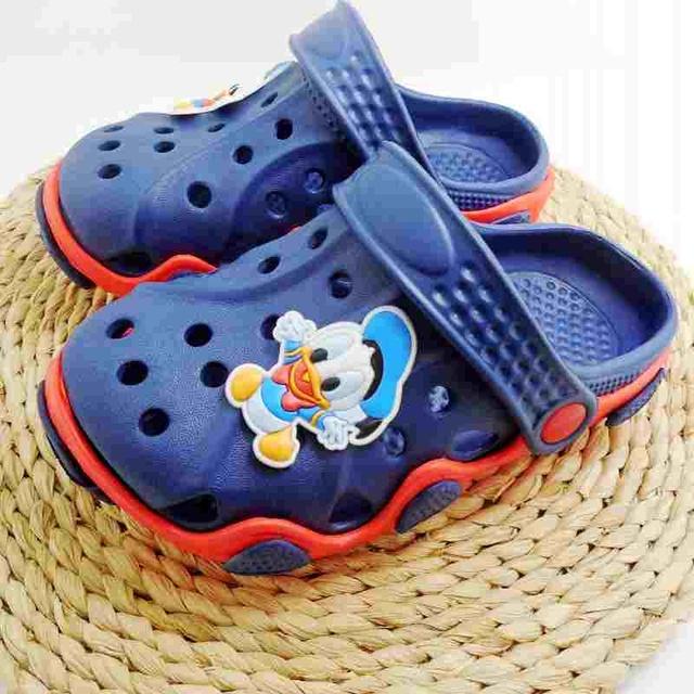 НОВОЕ Прибытие Молодежи Мальчиков/Девочек Мода Летние Сандалии Пляжные Сабо Крокодил Fit чистка подвески/Флип-Флоп Тапочки ЕВА обувь
