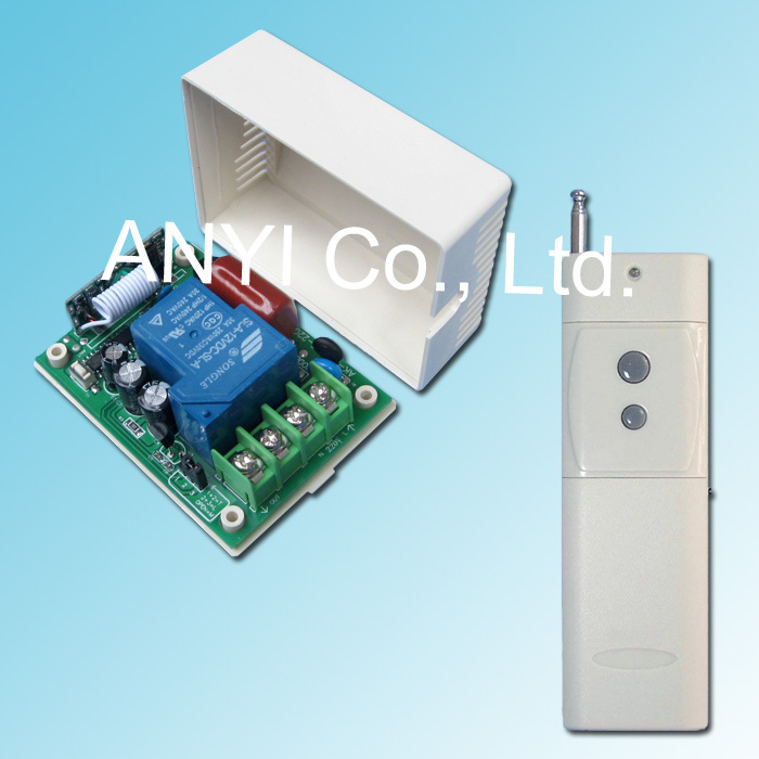 Power AC100~250 Volt 1 Channel Wireless Remote Control Switch System Smart Home Pure manual configuration and test(China (Mainland))