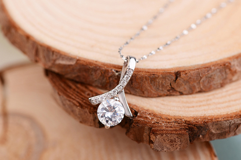 Italy High quality circels cz diamond jewelry silver 925 pendants necklace with 45cm chains for women drop ship wholesalers(China (Mainland))