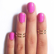 1pcs Gold stack Plain Cute Above Knuckle Ring Band Midi Rings(China (Mainland))