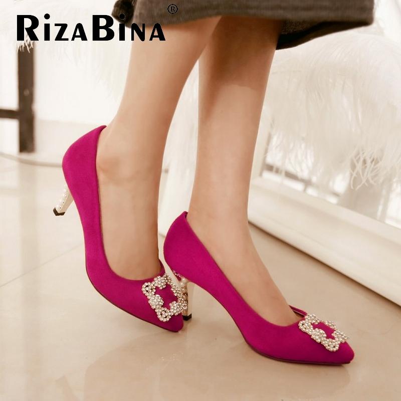 women high heel shoes suede rhinestone sweet sexy spring pumps platform heeled footwear heels shoes size 34-39 P16134<br><br>Aliexpress