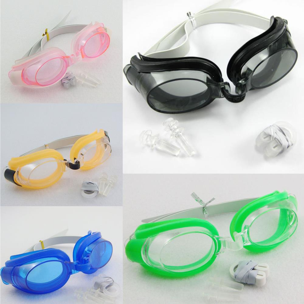 Swimming Goggles Swim Glasses Water Sportswear Anti Fog Uv protected with earplug & Nose Clip(China (Mainland))