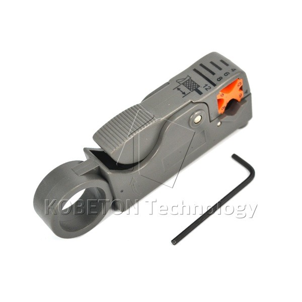 Multifunction Rotary Coax Coaxial Cable Cutter Tool Useful Cable Wire Stripper ABS Knife Crimper Pliers Crimping Tool