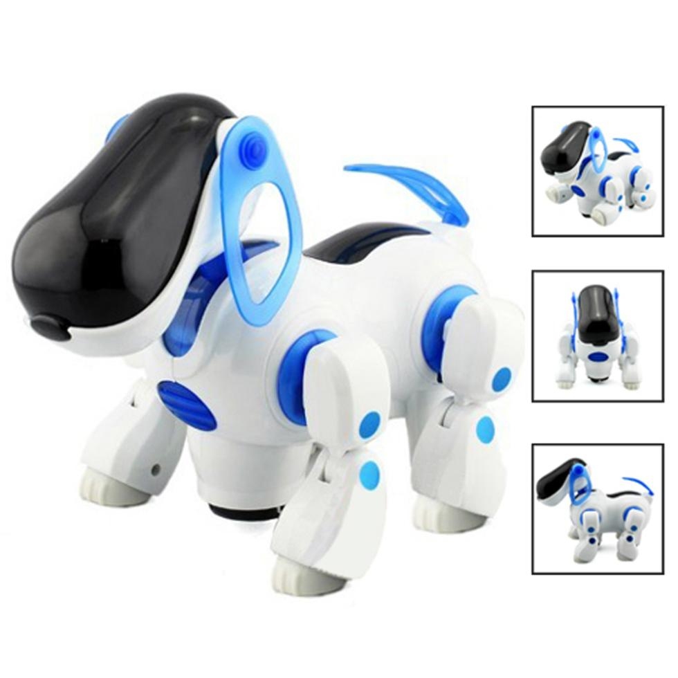 2015 Gift Robotic Interactive Pet Dog Walking Bump Go Puppy Kids Toy Children(China (Mainland))