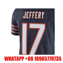 Men's Alshon Jeffery 17# Navy Color Rush Limited Embroidery Logos and 100% Stitched Free Shipping(China (Mainland))