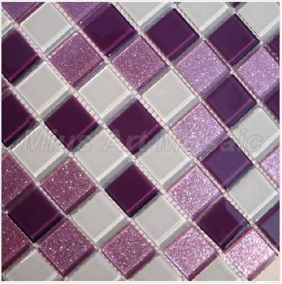 Purple Tile Backsplash Glass Mosaic Art Kitchen Tiles: [Mius Art Mosaic ] Lavender Sparkle Crystal Mosaic Tiles