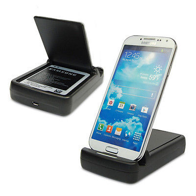 New Dual Battery Charger Dock station Cradle Stand Holder For Samsung Galaxy S IV S4 i9500 wholesale factory directly free ship(China (Mainland))