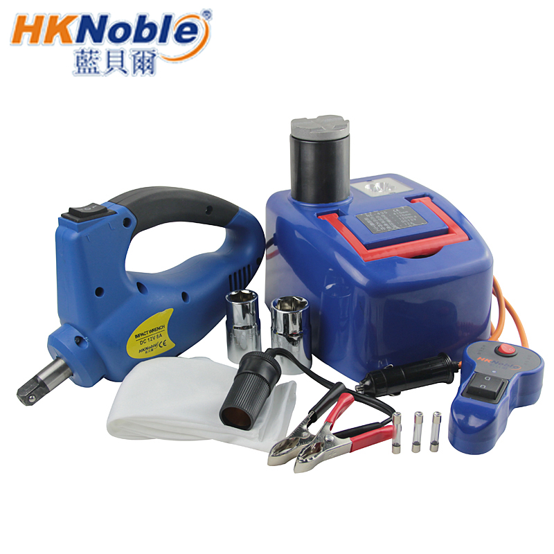 Full Set 12V 1.2 Ton Electric Hydraulic Jack And Electric Wrench,Easy Operation,Which Have CE,RoHS Certificate(China (Mainland))