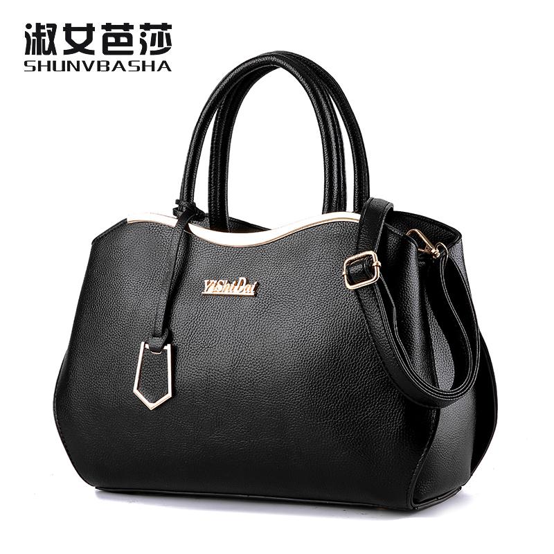 SNBS 100% Genuine leather Women handbags 2016 New Luxury Leather Handbags Fashion Women Famous Designer Handbag Shoulder Bags(China (Mainland))