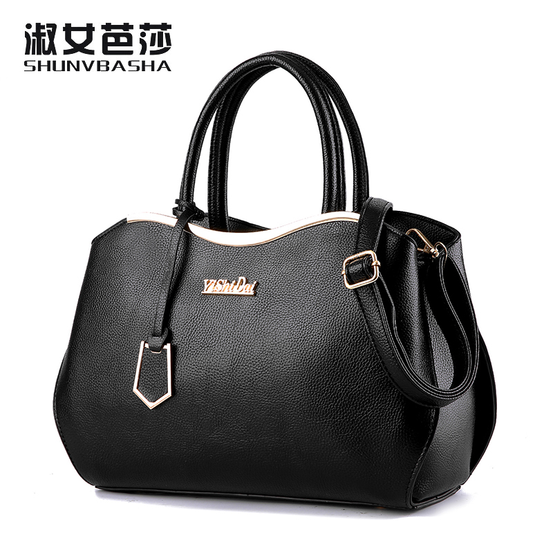 SNBS 100% Genuine leather Women handbags 2016 New Luxury Leather Handbags Fashion Women Famous Designer Handbag Shoulder Bags(China (Mainland))