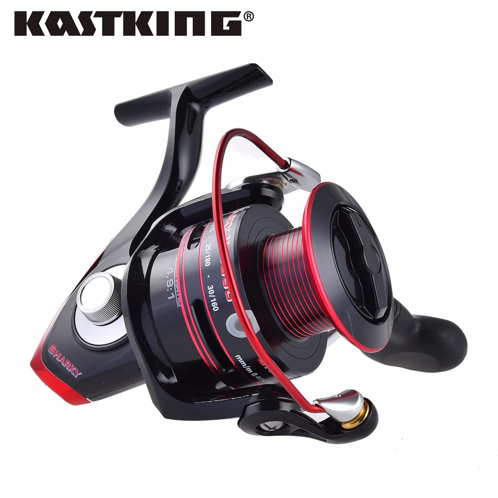 KastKing Sharky II Hot 100% Waterproof Spinning Reel Max Drag 19KG Saltwater Fishing Reel with 11 Stainless Steel Ball Bearings(China (Mainland))