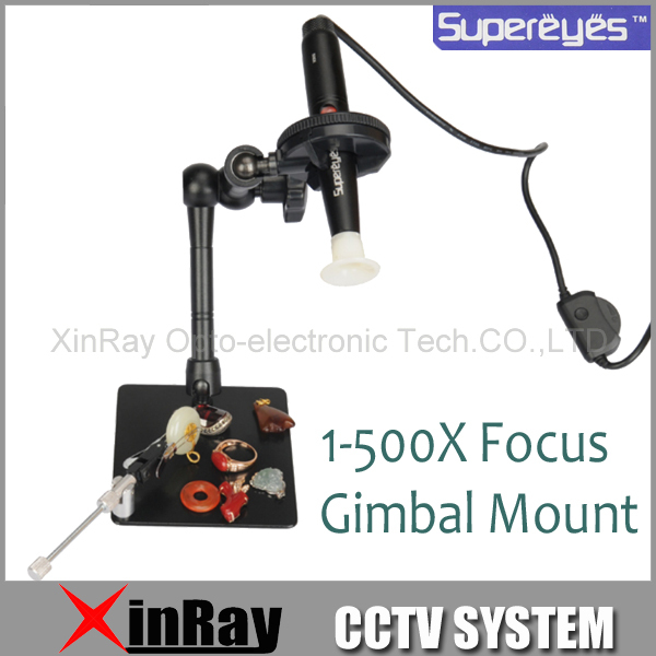 Supereyes B008+Z004 500X USB Portable 5.0 MP Digital Microscope Magnifier IC Test Inspection Equipment  with Gimbal Mount<br><br>Aliexpress