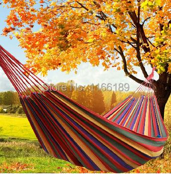Бесплатная открытая 200 * 150 см 2 человек гамак сад свинг указан закрытый качели кровать расслабляющий качели мешок макс kgs холст гамак