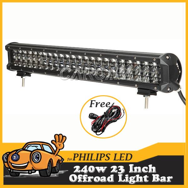 240W 23Inch LED Light Bar OffRoad Work Lights Driving Lamp Combo Beam 12v 24v Truck SUV Boat 4X4 4WD ATV LED Bar(China (Mainland))