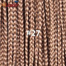 Alileader ручной работы 3 S крючком коробка косы волосы 12 16 20 24 дюймов длинные вязаные косы Синтетические пряди для наращивания волос 8 упаковок п...(China)