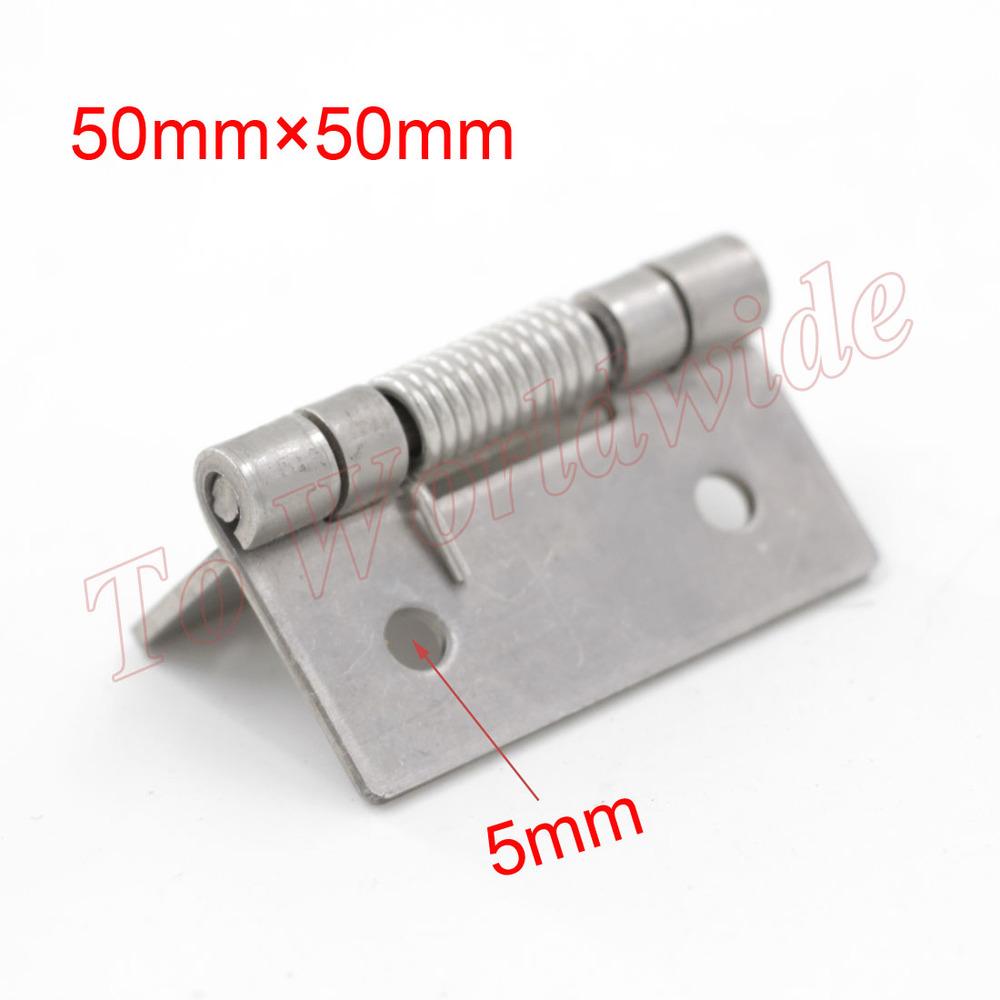 Гаджет  Silver Tone Spring Loaded Hinge 50mm x 50mm Metal Hinge Elastic Hinge None Мебель