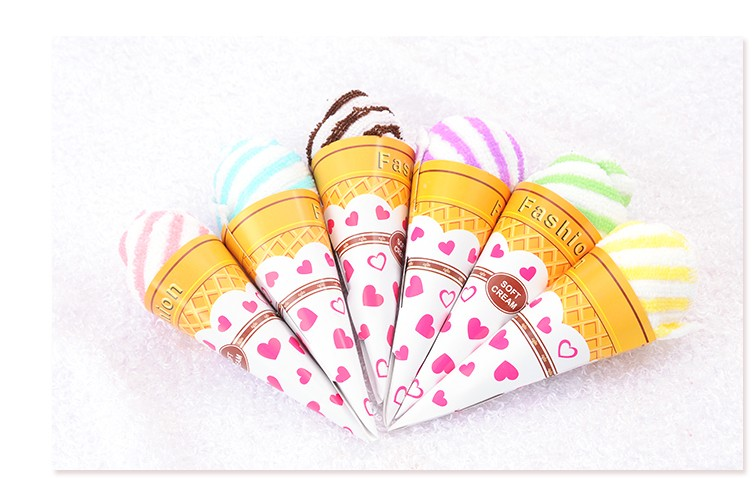 2015 Rushed Promotion Wedding Invitations Wedding Gifts Cute Ice Cream Lovers Washcloth Towel(China (Mainland))