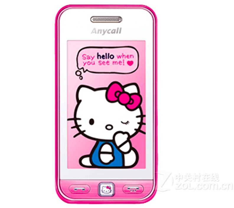 Original Samsung s5230 hello kitty mobile phone unlocked S5230 touch screen mp3 player refurbished Free Shipping(China (Mainland))