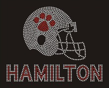 Buy Paw Hamilton helmet crystal transfer T shirt wholesale price for $38.70 in AliExpress store