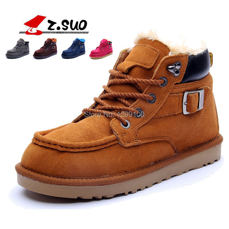 Hot!!! Winter Snow Boots Men Fur Genuine Leather Shoes boots For Men/Women high quality Boots