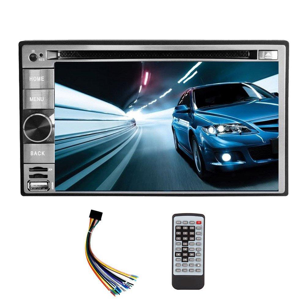 Универсальная 2DIN автомобильный DVD проигрыватель компакт-дисков 6.2-дюймовый сенсорный экран Win се 6.0 Bluetooth автомобильный стере АМ FM радио USB SD-Аудио/Видео задняя камера